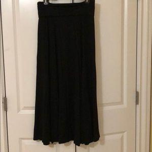 Long gap maxi skirt